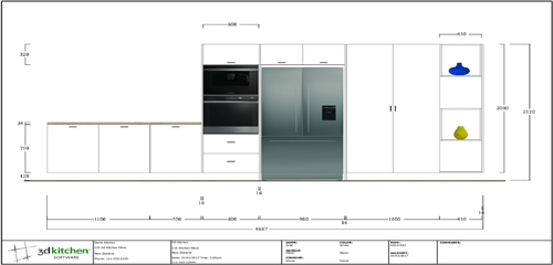 3d Kitchen V11 2D Elevation